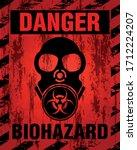 danger biohazard warning label... | Shutterstock .eps vector #1712224207