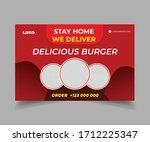 social media post for delicious ...   Shutterstock .eps vector #1712225347