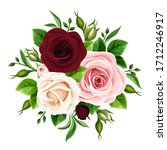 vector bouquet of pink ... | Shutterstock .eps vector #1712246917