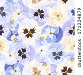 seamless pattern with pansy... | Shutterstock .eps vector #171224879