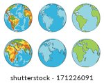globe illustration with... | Shutterstock .eps vector #171226091
