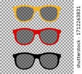 eye glasses set. sunglasses on... | Shutterstock .eps vector #1712263831
