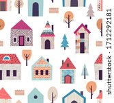 seamless pattern with stylized...   Shutterstock .eps vector #1712292181