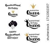 happy quarantined birthday set... | Shutterstock .eps vector #1712302357