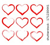 hearts set cartoon vector ... | Shutterstock .eps vector #171230441