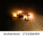 Pipe Lamp On The Wall.