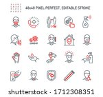 simple set of coronavirus...   Shutterstock .eps vector #1712308351