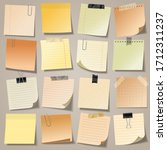 realistic blank sticky notes... | Shutterstock .eps vector #1712311237
