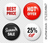 realistic badges with text....   Shutterstock .eps vector #1712314867