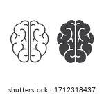 human brain vector icon... | Shutterstock .eps vector #1712318437