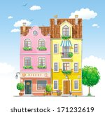 old historical houses at the... | Shutterstock .eps vector #171232619
