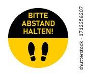 "bitte abstand halten  ""please...   Shutterstock .eps vector #1712356207"