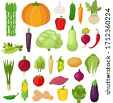 vector collection of vegetables ... | Shutterstock .eps vector #1712360224