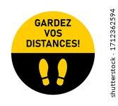 "gardez vos distances  ""keep...   Shutterstock .eps vector #1712362594"