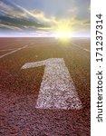 first place winner of the runway | Shutterstock . vector #171237314