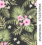 tropical vector seamless...   Shutterstock .eps vector #1712376964