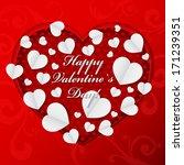 happy valentine s day   paper... | Shutterstock .eps vector #171239351