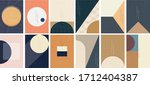 geometric background with... | Shutterstock .eps vector #1712404387