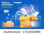 concept of donating medical... | Shutterstock . vector #1712420884