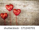 Heart Vintage Style On Wood...