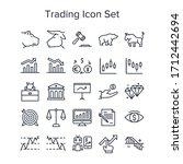 stock market trading icon set | Shutterstock .eps vector #1712442694