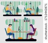 flat design illustrations ...   Shutterstock .eps vector #1712442871