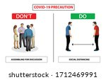 do and don't poster for covid... | Shutterstock .eps vector #1712469991