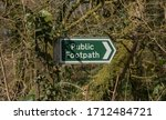 Public Footpath Sign Covered...