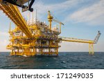 oil and gas platform in the... | Shutterstock . vector #171249035
