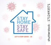 stay home  stay safe poster... | Shutterstock .eps vector #1712493571