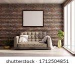 An Empty Frame On A Brick Wall...