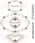 set of floral pattern frames in ... | Shutterstock .eps vector #171251051