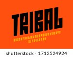 tribal style font design ... | Shutterstock .eps vector #1712524924