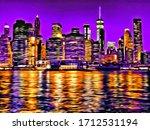 Manhattan New York City Usa...
