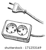electrical plug  | Shutterstock . vector #171253169