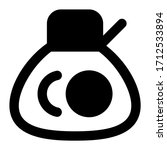 money bag. icon with outline...