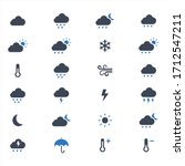 weather vector icons on white... | Shutterstock .eps vector #1712547211