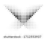 halftone dots in cross form .... | Shutterstock .eps vector #1712553937