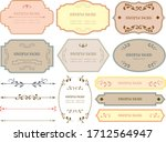 european luxury decorative... | Shutterstock .eps vector #1712564947