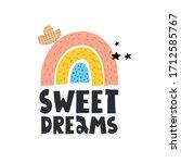 sweet dreams. cartoon rainbow ...   Shutterstock .eps vector #1712585767