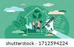 green home vector illustration. ... | Shutterstock .eps vector #1712594224