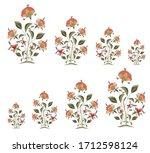 moghal paisley pattern on white ...   Shutterstock .eps vector #1712598124