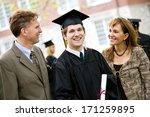 graduation  proud male student... | Shutterstock . vector #171259895