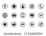 set of black icons. social net... | Shutterstock .eps vector #1712602924