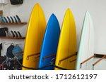 Surf Shop. Set Of Surfboards...