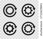 gears with arrow icons. vector...   Shutterstock .eps vector #1712625841