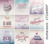 valentine s day set   labels ... | Shutterstock .eps vector #171264047
