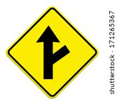 three intersection sign | Shutterstock . vector #171265367