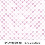 pink seamless hearts pattern | Shutterstock .eps vector #171266531
