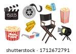 film and cinema industry...   Shutterstock .eps vector #1712672791
